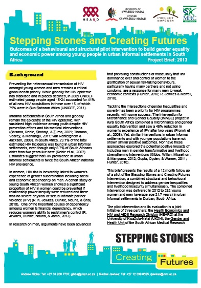 Stepping Stones and Creating Futures