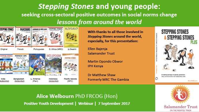 Stepping Stones and young people presentation: PYD